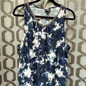 Mossimo watercolor print top and skirt set